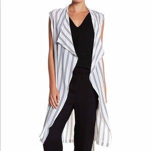 Long Lined Striped Vest